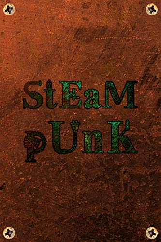 Steampunk: Green Copper Rustic Steam Powered Machine Lined Journal