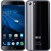 "Elephone S7 Smartphone 4G LTE 4GB RAM 64GB ROM Android 6.0 X20 Deca Core Pantalla 5,5"" Resolución 1920 x 1080, Cámara 13MP + 5MP, Dual SIM Soporta Tarjeta TF, Huella Digital Inteligente, Negro"