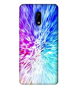 FUSON Designer Back Case Cover for Nokia 6:: Nokia6 (Colourfull Pattern With mixing Paints Graphic Arts)