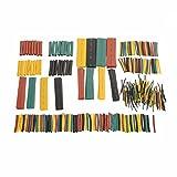 328 Stück ( 8 Größen X 5 Farben ) Schrumpfschlauch Set Schrumpfschläuche Sortiment Heat Shrink Tube Farbig Bunt Polyolefin Isolierung Schutz Flammschutzmittel