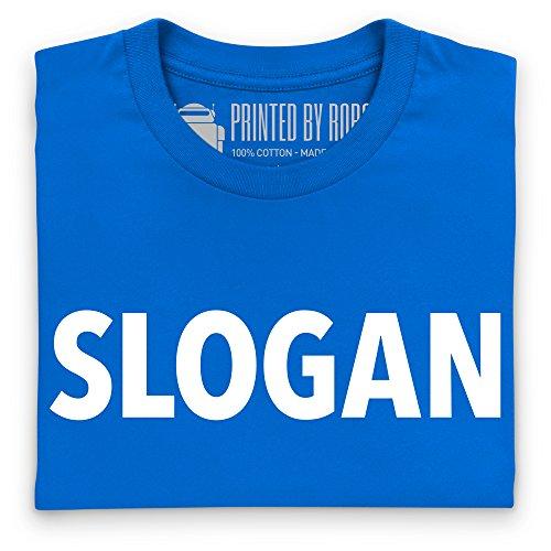 Slogan T-Shirt, Damen Royalblau