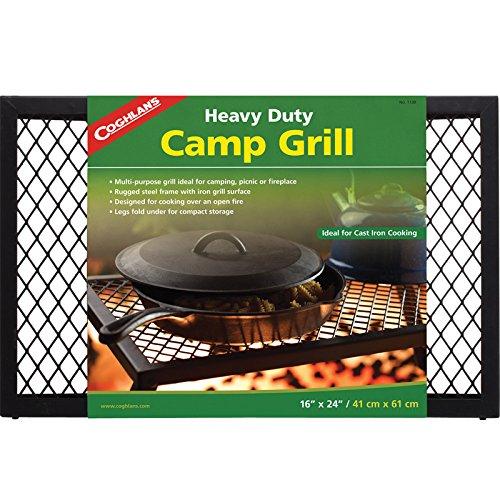 Klappgrill Grillfl/äche: 29 x 21,5 cm Basic- aus verchromtem Stahl Relags Campinggrill