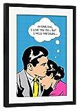 artboxONE Poster mit Rahmen Schwarz 45x30 cm I Miss