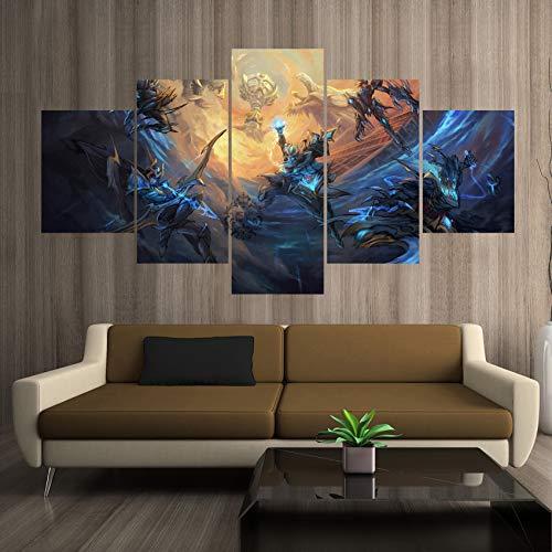 AMOHart Leinwanddrucke 5 Stücke Championship Series League Kunst Malerei Wohnzimmer Wand-dekor HD Kunstwerke Poster Drucke auf Leinwand Rahmen -