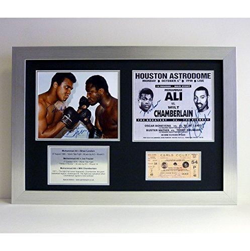 Mit Autogramm von Muhammad Ali, gerahmt, Motiv &montage