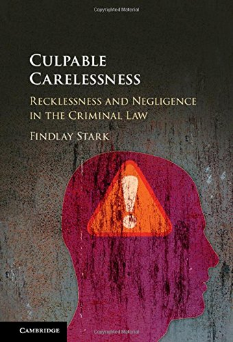 Culpable Carelessness: Recklessness and Negligence in the Criminal Law