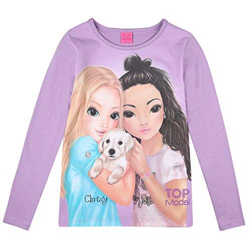 Top Model Mädchen Langarm Shirt Christy & Nyela 85031 Violett (140)