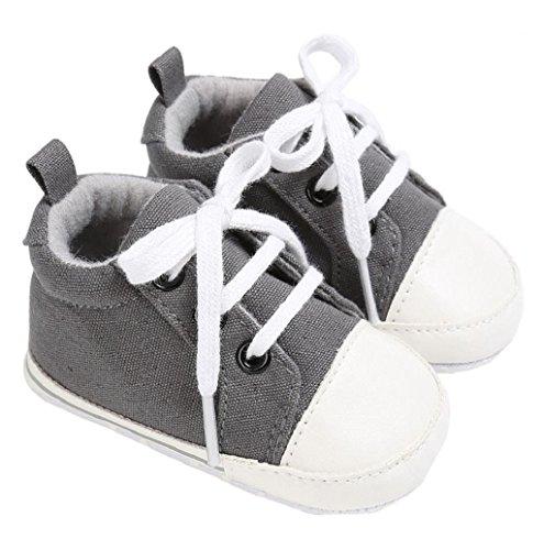 Turnschuhe Rosennie Turnschuhe Baby Mädchen Krippe Weich Schuh Grau