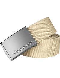 Urban Classics Unisex Gürtel Canvas Belt für Herren und Damen, stufenlos verstellbarer Stoffgürtel, Länge 120 cm, Breite ca. 3,7 cm, mit Eisenschnalle