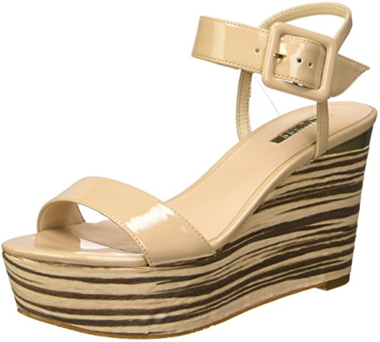 Guess Damen Patent PU Plateau Nude 2018 Letztes Modell  Mode Schuhe Billig Online-Verkauf