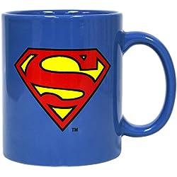 DC Comics - Taza de cerámica con logo clásico de Superman, color azul (SD Toys SDTWRN27552) - Taza Superman azul logo clásico
