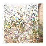 DEWUFAFA Pellicola 3D Non Adesiva Pellicola Decorativa Privacy Statica Adesivi for Finestre Pellicola Vetro 44,5 CM X 200 Cm (Color : Rainbow, Size : 44.5x200cm)