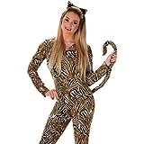 Tiger Cat traje disfraz de animal mono para mujer Adulto Disfraz de Halloween