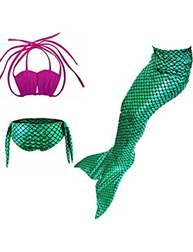 Juleya Mermaid Costumi Ragazze Sparkle Mermaid Bikini