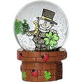 Gruss und Co 45434 Traumkugel Schornstein-Feger, Zauber-Glas-Kugel mit Glitzer Schneekugel, Polyresin, Mehrfarbig, Höhe 6,5 cm