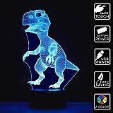 Golight 3D Ilusión Lámpara Luz Nocturna dinosaurio 7 colores cambiantes toque USB cuadro bonito regalo juguetes Decoracione