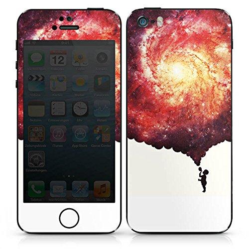 Apple iPhone SE Case Skin Sticker aus Vinyl-Folie Aufkleber Universum Seifenblasen Kind DesignSkins® glänzend