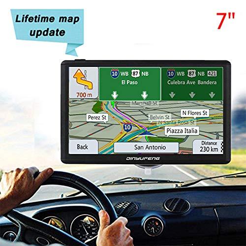 JinYuFeng GPS Voiture Navigation,GPS HD écran Tactile Multi-Langue Intelligent Voice Play,Europe 43 Carte Pays Mise à Jour Utilisation Gratuite dans Voiture et Camion