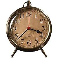 AIKE Continental Personalidad Creatividad Lujoso Moda Silencio Bronce Reloj de Mesa Decoración Regalos Sala estudiar Cuarto Restaurante Cuarto de los Niños 6 Pulgadas