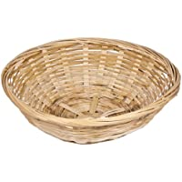 Get Goods - Set Di 12 Cestini Portapane In Stile Vintage, In Bambù Naturale, Forma Tonda
