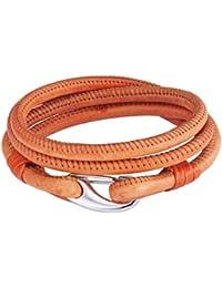 Rafaela Donata Unisex-Armband Edelstahl Leder 60907023