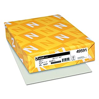 Exact Index Card Stock, 110 lbs., 8-1/2 x 11, Gray, 250 Sheets/Pack