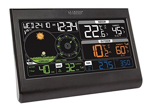La Crosse Technology WS6868BLA-SIL - Stazione meteorologica semi-professionale, 19,3 x 2,2 x 13,3 cm, colore: Nero
