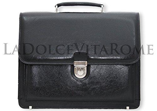 BORSA CARTELLA 24 ORE PORTADOCUMENTI VENTIQUATTRORE VALIGETTA DA UFFICIO LAVORO Mod.:8015 (Nero)