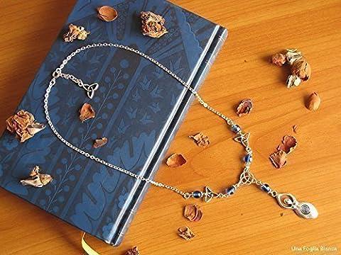 Pagan Mother Goddess triquetra necklace jade opalite perler beads handmade