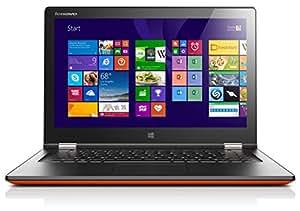 Lenovo Yoga 2-13 33,8 cm (13,3 Zoll FHD IPS) Convertible Ultrabook (Intel Core i3 4010U, 1,7GHz, 4 GB RAM, 500GB HDD, Intel HD Graphics 4400, Touchscreen, Win 8.1) clementine orange