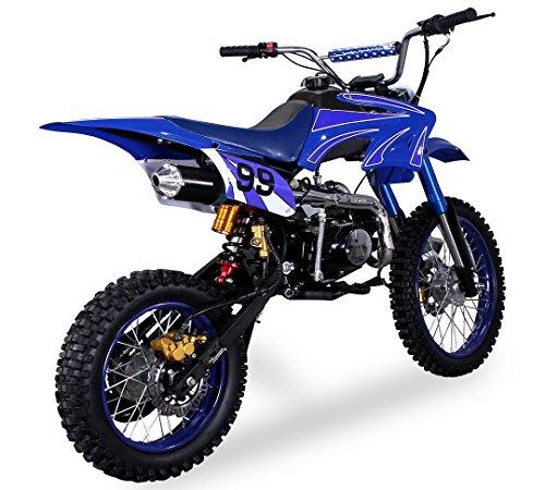 Pit bike cross mini moto nuova modello crb 125cc 4 tempi 4 marce pocket dirt bike: avviamento a pedale, ruote 17