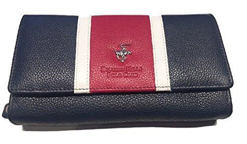 Portafoglio Pelle Beverly Hills Polo Club donna a Soffietto Grande (Blu)