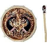 40cm Cadre tambour avec cuir beater FRAME DRUM chaman Djembe bodhran batteur R4