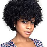ATOZWIG Natural Afro Wig Kinky Curly Wigs For Black Women Best Synthetic Female Wig Short Hair Wigs For Black Women Fake Hair Pieces