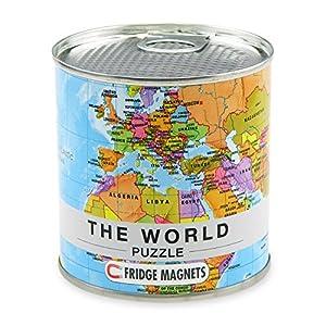 Extra Goods- Puzzle Magnético Mapa Mundo, Multicolor, 33 x 23 cm (Mapiberia 771547)