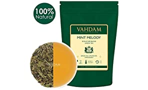VAHDAM, Mint Green Tea Loose Leaf (100 Cups) | Rich Anti-OXIDANTS | Peppermint Tea with Pure Green Tea Leaves | Refreshing Mint Tea | Brew as Hot Tea or Iced Tea | 100gm (Set of 2)