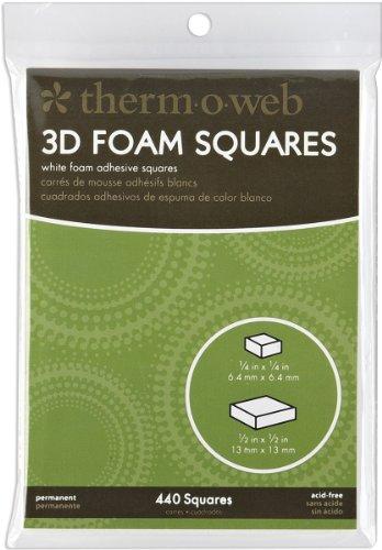 Unbekannt Therm-o-Web 352x 1/4-Zoll/88x 1/2permanent selbstklebend Schaumstoff, Quadrate, weiß -