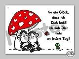 30 – Liebeskarte – So ein Glück- Postkarte von Sheepworld