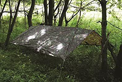HIGHLANDER CAMO WATERPROOF BASHA TARP COVER 8 X 5 FT
