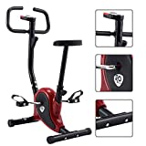 GOPLUS Vélo d'Intérieur Vélo de Fitness Vélo d'Appartement Vélo Spinning Vélo Biking Vélo de Sport Maison Noir Rouge Capacité de Charge Max de 120 kg