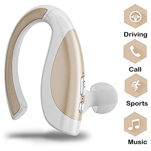 8-spur-bluetooth (Wireless Bluetooth Kopfhörer, Miya In-Ear Outdoor Sport V4.1 Stereo-Headset Kopfhörer Noise Cancelling Ohrhörer mit Mikrofon für iPhone X/8/8plus/7/7plus,Galaxy Note8/8s,iPad/Tablet PC-Golden)