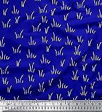 Soimoi Blau Viskose Chiffon Stoff Pinselstrichs abstrakt