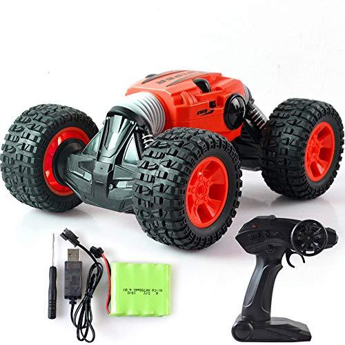 L&U Auto Telecomando, Auto con Telecomando 2.4Ghz, Camion Fuoristrada 4WD, 1/16 Auto prodezza con deformazione Rapida proporzionale con 1 batterie Ricaricabili,Red