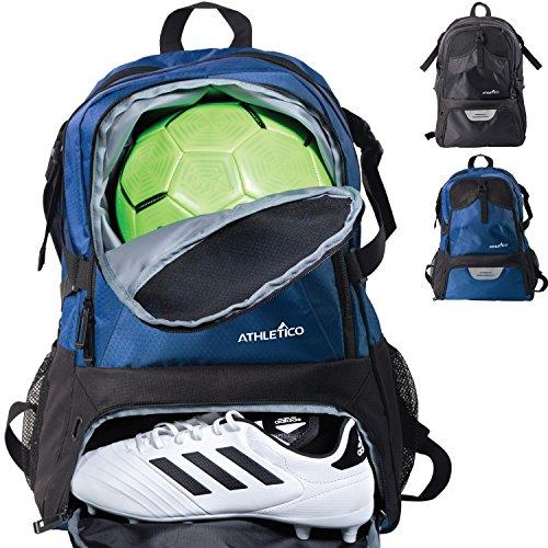 Athletico Fußball –, Rucksack, Tasche & für Fußball, Basketball, Fußball, mit extra Cleat-Ball Fächer, blau