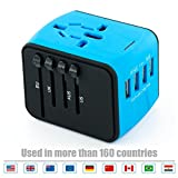 USB Plug Charger 4-Port USB for worldwide travel,international travel plugs with EU,UK,US,AU plugs