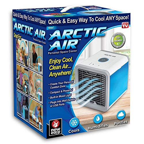 DEZIINE Arctic Air Portable Air Conditioner with Built-In LED Mood Light (White)