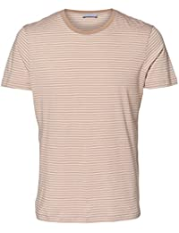 Selected Homme Paxton Stripe T-Shirt Pink, Blue, Grey