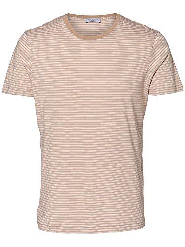 Selected Herren T-Shirt Stucco