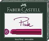 Faber-Castell 185508 - Tintenpatronen Standard, 6er Pack Rosa