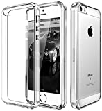 Elv Iphone Se Case Apple Iphone 5S Ultimate Protection, Slim Scratch / Dust Proof Transparent Back Case With Shock Absorbing Case Clear